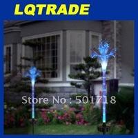 High-Q solar products&Low cardon Chriatmas LED Solar Lights /  Home Decorative lights Fiber optic lily