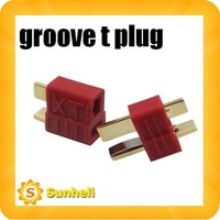 100pairs t plug ultra t connector plug XT GROOVE antiskid Gold Grisp groove Deans T-Plug Connector free shipping fast
