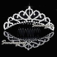Fast Free Shipping! Gorgeous Alloy With Austria Rhinestones Wedding Bridal Tiara/ Combs/ Headpiece -HG0049