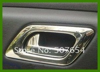 Free shipping!  High quality 4pcs inner door handle cover/inner door handle trim(ABS chromes) for Citroen C4 2007-2010