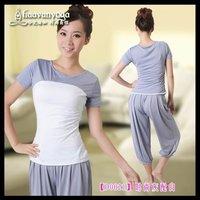 Free Shipping wholesales & retail  New  design women Yoga Shirts Yoga clothing yoga suit fitness wear dress 6pcs/lot