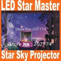 Amazing Flashing Christmas Colorful LED Star Master Star Sky light Star Beauty Projector Lamp Night light Lamp free shipping