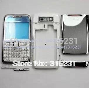 Full Housing Cover faceplace case fascia + Keypad for Nokia E71 White(China (Mainland))