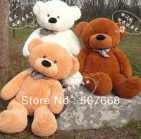 "Soft Bear Plush Toys Teddy Bear Stuffed Plush Soft Toys 180CM White & Brown Huge 71"" free shipping"