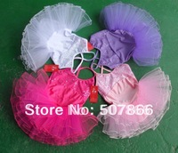 4  Colors --Hot  and New Girls   Leotard Ballet Tutu Skirt Dress SZ 4-8Y  Free shipping,