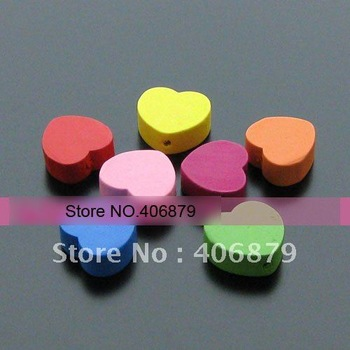 550 pcs/lot  18*17 mm Fashion Wooden heart Beads Jewerly / Wooden Jewelry Accessory  ,Mixed Wholesale,Free Shipping