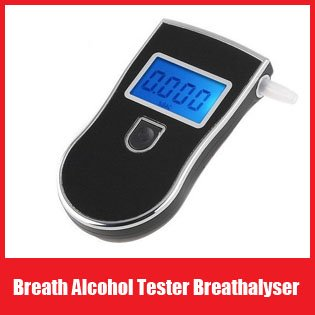 Prefessional Police Digital Breath Alcohol Tester Breathalyzer  with Mouthpiece / 3 convertible units