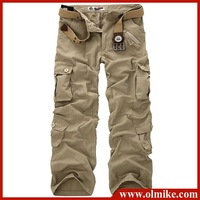 free shipping Wholesale Price Men's New Brand Overalls Pant carpenter Cargo Trousers MALE casual Pocket Pants for Men W28 - W38