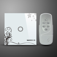 100% Good quality  Remote control switch with LED indicator (white with flower),no need to pay for Remote controller!