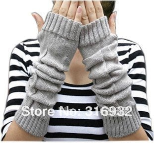 O4 lady long arm gloves/fingerless warmer gloves/arm knitted gloves/knitted arm mittens