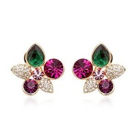 Italina earrings - heart earrings beautiful,BS-002885 ,Drop Earrings,