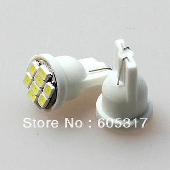 [Free Shipping] 10pcs/lot White light T10 8 smd bright Auto led car led lighting/t10 wedge led auto lamp