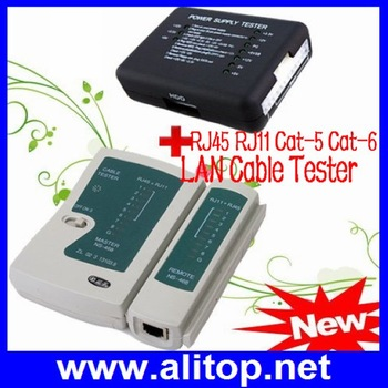20/24 PIN PC PSU ATX Power Supply Tester&RJ45 RJ11 Network Cable Tester