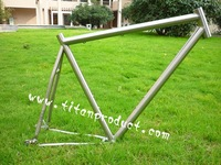 Titanium Bicycle Frame For Belt Drive and Wtih Sliding Dropouts