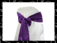 Wholesale -sash-chair cover sash- satin sash-satin chair sash