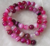 Free shipping.beads.  8mm Agate beads. 2 string/1 lot. (Each string 48-50).Colorful round beads.Can mix build.