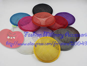 13cm Sinamay Round Base Fascinator Base 20pcs/lot #2Color