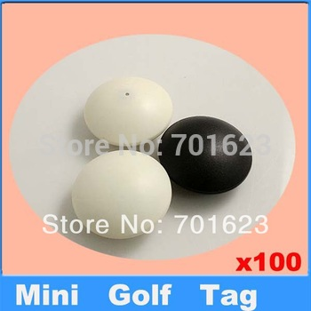 100pcs mini golf tag anti-theft alarm security tag eas hard tag china post shipping