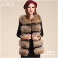 CDV081 2012 new item Most fashion girls rabbit and fox  fur vest for spring