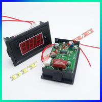 Wholesale 6pcs/lot Brand New Digital Red Voltmeter AC 75V to 500V LED Digital Panel Meter AC220V Voltage RED-10000369