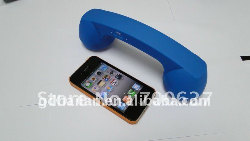 Good quality Rechargeable volume control Multi-color retro wireless bluetooth handset for iphone(China (Mainland))