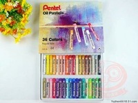 pentel oil pastels 36 color, Made in Japan, Free shipping, colors oil pastels, plastic crayons