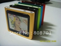 "6TH Gen Generation MP3 MP4 Player 1.8 Inch Touch Screen 8GB 1.8"" Toucnscreen MP4 5pcs Free Shipping"