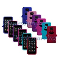 50PCS/LOT Mixed colour Angel New Soft Silicone Cover Case Skin For Samsung Galaxy S II S2 i9100, WHOLESALE