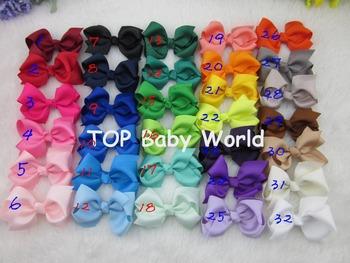 """50pcs/lot, 3"""" baby ribbon bows with clip, Baby Boutique hair bows ,Hairclips,Girls' hair accessories,Via china post air"""