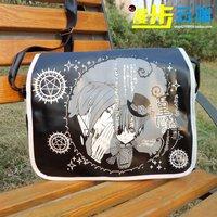 Anime Cartoon Black Kuroshitsuji Ciel Phantomhive Cute PU Strap Purse / Bag / Package / Packet Gift