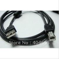 Free shipping 10pcs 2.0 USB printer cable USB printer cable 3 m