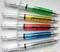 Hotsale! 6 COLORS New syringe pen/Ball pen/ Fashion pen wholesale 100pcs/lot Free Shipping