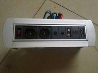 electric hidden conference table socket with 2 eu power+2 data+1 audio+1 vedio+1 hdmi+1 vga