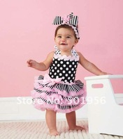 Hot sale Baby dress infant tutu dress lace pettiskirts dress 3 pcs/lot  free shipping