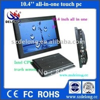 "pos system 10.4"" touch pc all in one with 1G RAM,8GSSD auto power supply for delay shut down pos machine"