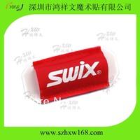 Free Shipping Custom logo Cross country Velcro ski sleeve with SWIX LOGO