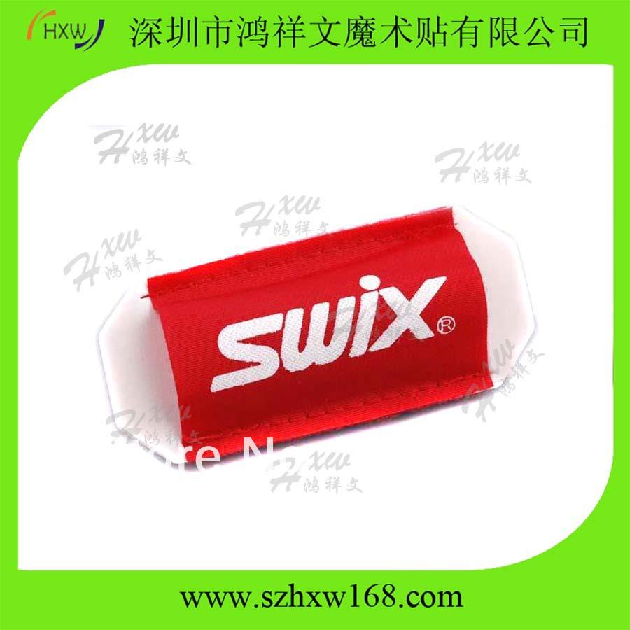 Free Shipping Custom logo Cross country Velcro ski sleeve with SWIX LOGO(China (Mainland))