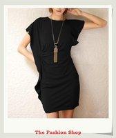FREE SHIPPING 2014 Fashion Women Mini Ruffles Dress size M OKC2201