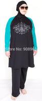 Whoesale Black Modest swimwears for muslim swim suits for muslim women