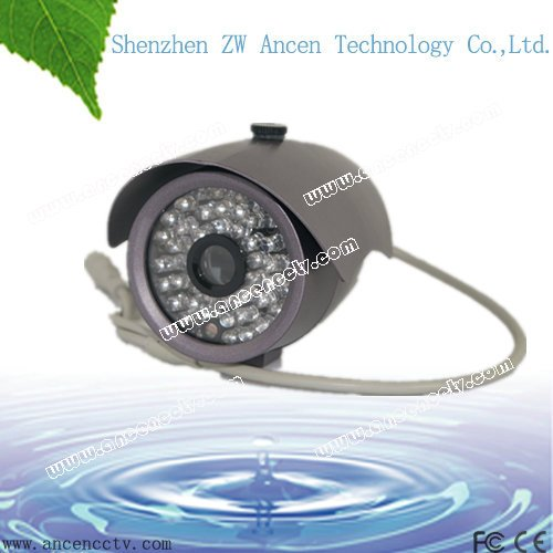 "Free shipping + 12 months warranty,1/3""COLOR CCD 520 TVL,36pcs leds,Waterproof ccd board camera(China (Mainland))"