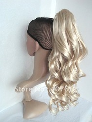 Hight quality promation wig ponytail,synthetic claw clip ponytail/Curly hair,long ponytail hair extension/Free shipping(China (Mainland))