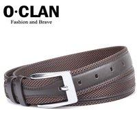 OLDCLAN Free Shipping + Canvas Belt - Mens Dress Belt + Leather Man Waist Belt  FGB09020-3
