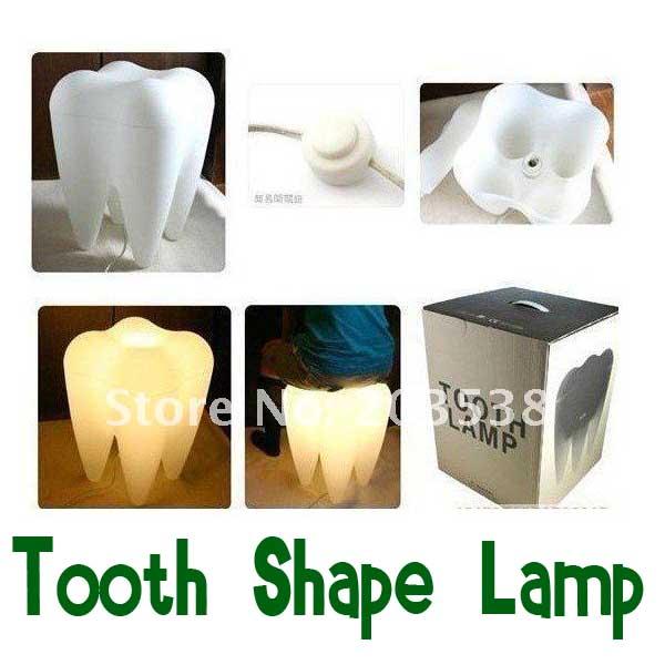 Drop shipping creative lamp tooth shape light tooth shape lamp home decor christmas gift 220v - Drop shipping home decor plan ...