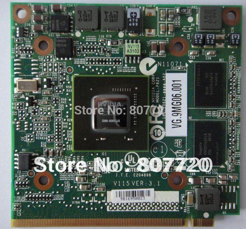 100% brand new and origina NVIDIA GeForce 9300M GS (G98-630-U2) DDR2 256MB 64Bit MXM II VG.9MG06.001 laptop VGA card for Acer.(China (Mainland))