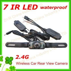 Waterproof 2.4G Wireless Car Rear View Camera,connect with GPS Navigation free shipping(China (Mainland))