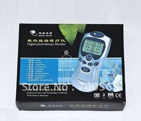 Free Shipping 10pcs/lot full set portable Tens Acupuncture body massager Digital Therapy Machine massager