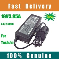 10PCS/LOT 100% Original Laptop AC Adapter for Toshiba ADP-75SB AB 19V 3.95A(5.5*2.5MM) DHL Free Shipping