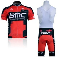 High Quality BMC Short Sleeve Cycling Jersey +Bib Shorts 3208