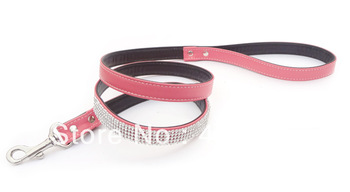 free shipping wholesale New design Dog Leader crystal  rhinestone Leash Pet Leash Basic Cord All Belt Ergonomic pet leashes