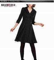 Brand new fashion OL dress, plus size lady dress, black, 1pcs/lot, free shipping(drop shipping)